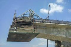 Construction bridge or expressway equipment site structure stock image