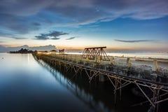 Construction bridge over the sea Stock Photos