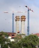 Construction of bridge piers Stock Image