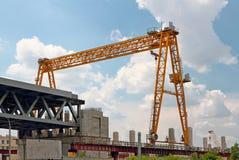 Construction of a bridge Royalty Free Stock Photos