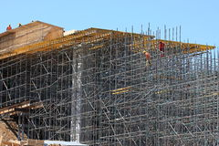 Construction of the bridge and scaffolding Stock Photos