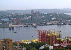 The Construction of bridge Vladivostok Stock Photo
