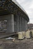 Construction of a bridge royalty free stock photo