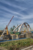 Construction of a bridge royalty free stock images