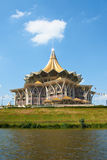 Construction (BRUNE GRISÂTRE) d'Assemblée législative d'état de Sarawak Photo stock