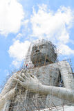 Construction of Buddha statue big Royalty Free Stock Photo