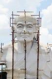 Construction Buddha. Construction of white Buddha Royalty Free Stock Photos