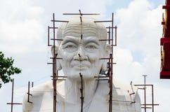 Construction Buddha. Construction of white Buddha Stock Photos