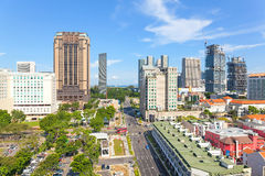Construction at Bugis Street Shopping District Royalty Free Stock Images