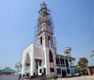 Construction and Build Mosque in Thailand. Islam, is a minority faith in Thailand, with recent statistics suggesting a population from around 4 million Royalty Free Stock Photos