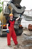 Construction builder and concrete Stock Image