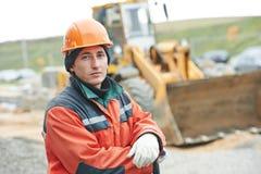 Construction builder worker portrait Stock Photo