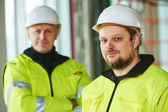 Construction builder worker at site Royalty Free Stock Photography