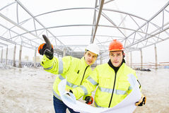 Construction builder workers royalty free stock image