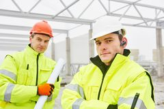 Construction builder workers stock photography