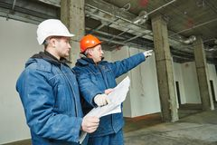 Construction builder workers Stock Images
