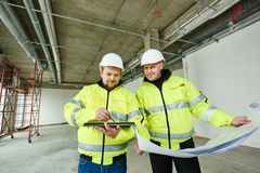 Construction builder workers Royalty Free Stock Photography