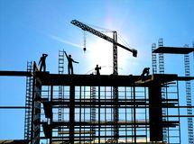 Construction of a building Stock Photography