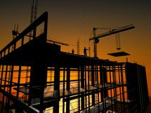 Construction of a building Stock Photo