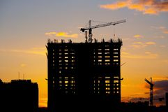 Construction of a building Royalty Free Stock Photos