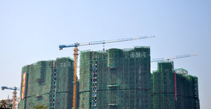 Construction of building Stock Images