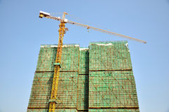 Construction of building Royalty Free Stock Image