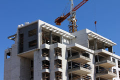 Construction of building. Process of construction a building Stock Photos