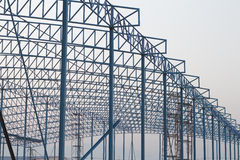 Construction of building. And the sunset Stock Images