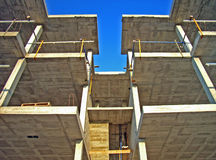 Construction Building 5. Structure of a new building edifice Royalty Free Stock Images