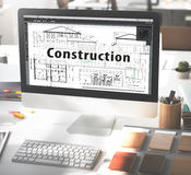 Construction Building Architecture Engineering Concept Royalty Free Stock Images