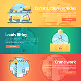 Construction and building banners set. vector illustration