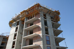 Construction of the building - building a house  Stock Photo