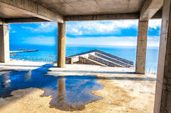 Construction building cement roof Stock Image