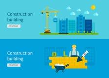 Construction of Building. Concept Vector Royalty Free Stock Photos