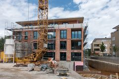 Construction, Building, Condominium, Facade stock image