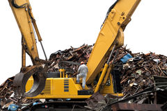 Construction building demolished Stock Photo