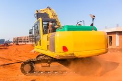 Construction Building Earthworks Machines stock images