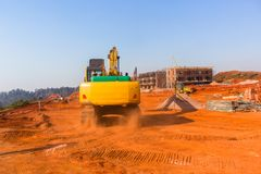 Construction Building Earthworks Machines stock photography