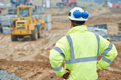 Construction building foreman worker Stock Image