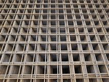 Construction of the building with the help of reinforced concrete stock image