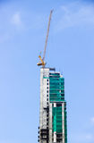 Construction. Building high daytime, residential construction Stock Images