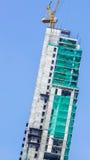 Construction. Building high daytime, residential construction Stock Photos