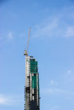 Construction. Building high daytime, residential construction Royalty Free Stock Image