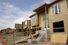 Construction - Building houses. Building houses Royalty Free Stock Image
