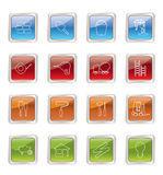 Construction and Building Icon Set Royalty Free Stock Image