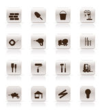 Construction and Building Icon Set. Stock Images