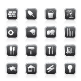 Construction and Building Icon Set Stock Images