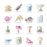 Construction and Building icons Royalty Free Stock Photos