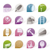 Construction and Building icons Stock Photos