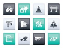 Construction and building Icons over color background. Vector icon set vector illustration
